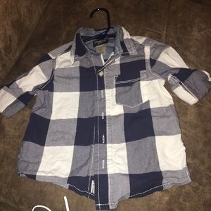 Navy and white plaid 2t